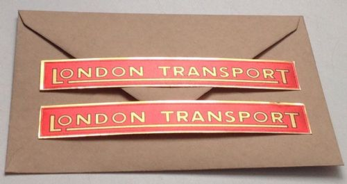 "01 LARGE Tri-ang ROUTEMASTER Set of 2 ""  Bus side London Transport "" Peel & stick "" decals"